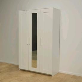 Ikea Brimnes 3 door mirror wardrobe,Free delivery