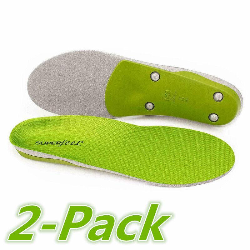2 Pack - Superfeet GREEN Insoles,Professional-Grade High Arc