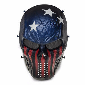 Masque Paintball Tactical Military Capitain America Aircraft NEW