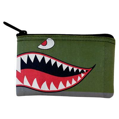 Halloween WWII Flying Tiger Fighter Shark Nose Art Coin Purse](Tiger Nose Halloween)