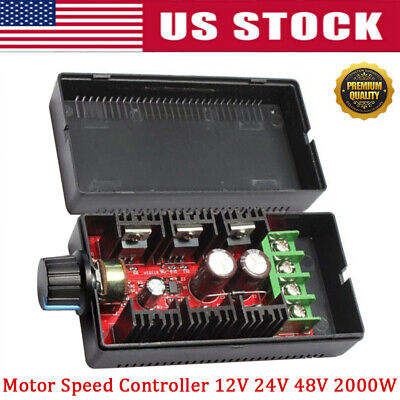 Pwm Motor Speed Controller Adjustable Variable Switch Hho Driver 12v 24v 48v Oz