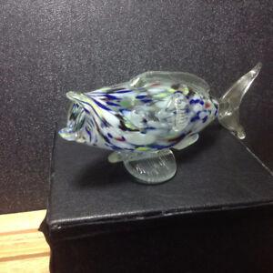 Glass Fish Art Collection Miniature