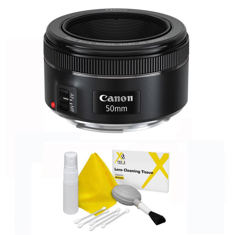 Canon EF 50mm f/1.8 STM Autofocus Standard Lens + 5 Piece Cleaning Kit