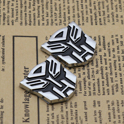 2x 3D Transformers Logo Emblem Badge of Autobot Decal Car Gas Door Cap Stickers