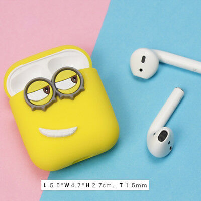 Cute Airpods cover shockproof for Apple  Earphone Minions cute Silicone Case