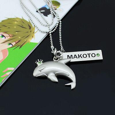 Anime Free  Iwatobi Swim Club Cosplay Makoto Whale Crown Necklace Pendant New