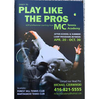 Learn how to play tennis like the Pros