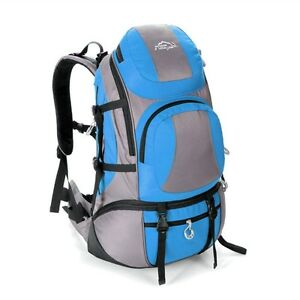 50L Hiking/Mountaineering Water-Resistant Backpack (Light Blue)