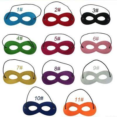 Halloween Eye Mask Makeup (Colorful Eye Mask Felt 20Pcs Kid Ball Makeup Wear Party Dress Halloween)