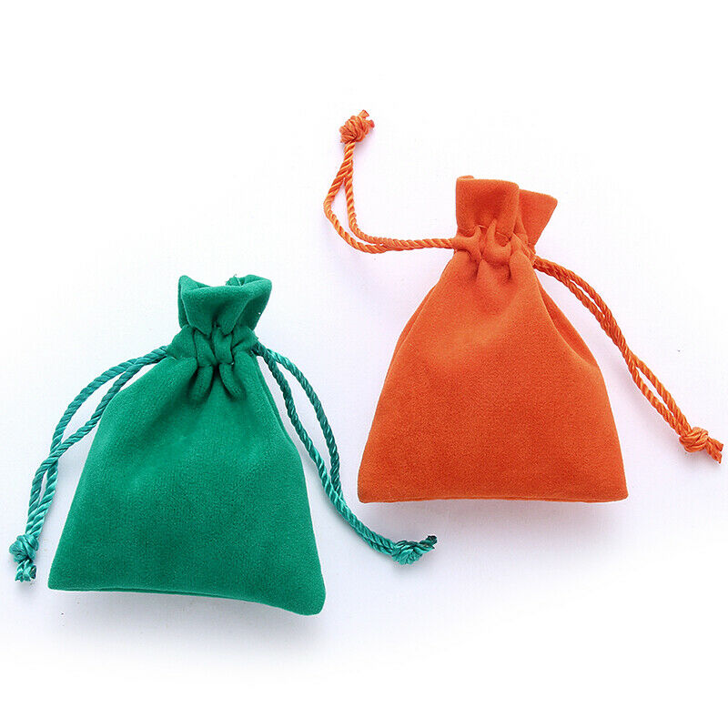 10pc Velvet Pouch Jewelry Display Drawstring Packing Bags Gift Wrapping Supplies