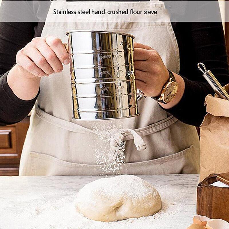 Flour Sieve Sifters Hand-Sieved Sugar Mesh Strainer Baking K