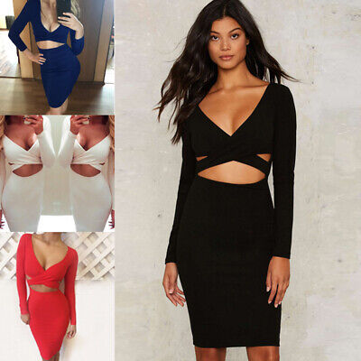 Womens Sexy Floral Bandage Mini Bodycon Dress Evening Party Cocktail Clubwear UK