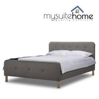 Brayden Fabric Bed Frame Grey or Dark Grey