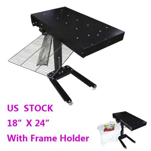 "18"" X 24"" Flash Dryer Silkscreen Shirt Printing Curing Machine Adjustable Height"