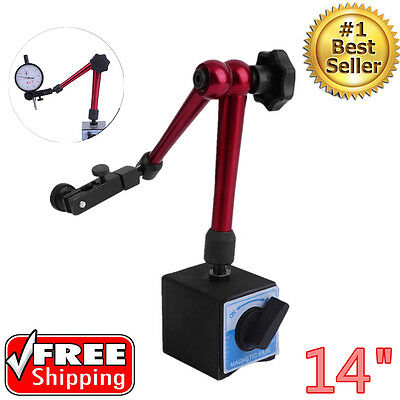 Magnetic Base Dial Indicator Holder 14 Reach Central Locking 176 Lb Heavy Duty