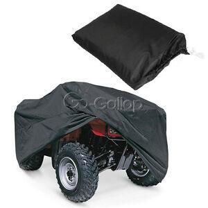 Black Weatherproof ATV 4 Wheeler Cover for Honda Suzuki Kawasaki Yamaha Raptor