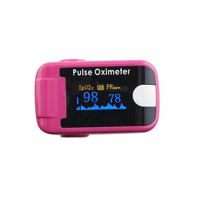 Pulse Oximeter Oled Oximetery Blood Oxygen Monitor Audio Alarm Lanyard Purple A
