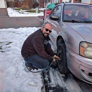 Installation pneu d'hiver MOBILE