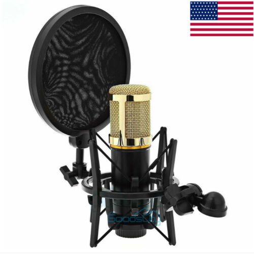 Condenser Microphone Mic Shock Mount Holder Clip Stand For S