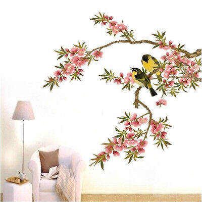 Tree Branch Black Bird Art Wall Stickers Removable Vinyl Decal Home Wall Sticker