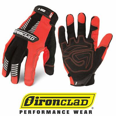 Ironclad Ivo2 Hi-vis Orange Reflective Safety Work Gloves - Select Size