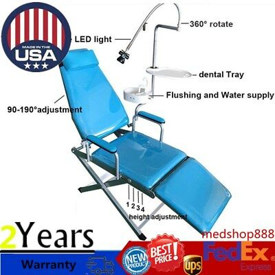 Dental Portable Folding Chair Unitwater Supply Flushing System Cuspidor Tray