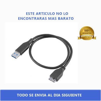 CABLE MICRO USB 3.0 NEGRO PARA DISCO DURO EXTERNO TOSHIBA SAMSUNG LACIE