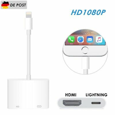 8Pin Lightning zu Digital AV TV HDMI Kable Adapter für iPhone X 8 7 6S 5 SE iPad