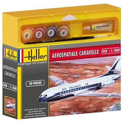 Heller 49074G Aerospatial Caravelle 1/200 Escala Regalo Set Orugas 48 Envío