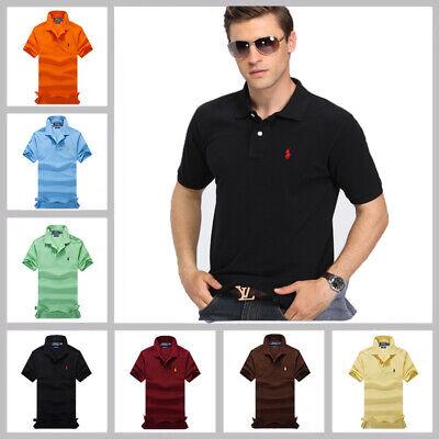 Neu Stil Mann RalphLauren T-Shirt Mode Poloshirt Small Pony Custom Fit S-XXL