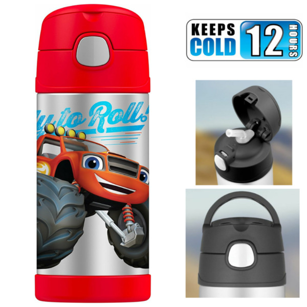 BNIB: Thermos FUNtainer 12 Ounce Water Bottle, Blaze and The Monster Machines