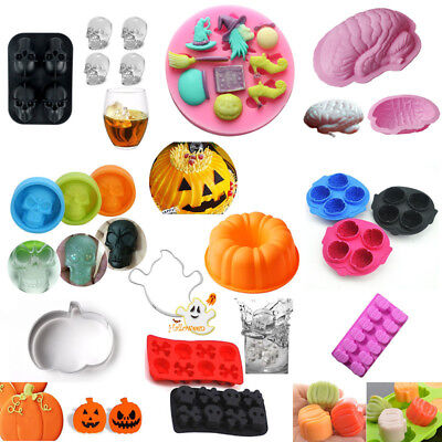 Silicone Cake Cookie Cutter Fondant Chocolate Halloween Theme Baking Mould - Fondant Halloween Cakes