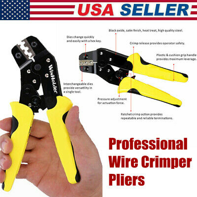 Wire Crimper Pliers Insulated Cable Connectors Terminal Crimping Tool Electric