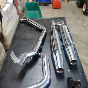 Harley Fat Boy Stock Exhaust