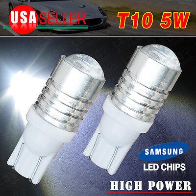 2 PCS T10 White Samsung High Power LED Reverse Backup Light Bulb W5W 906