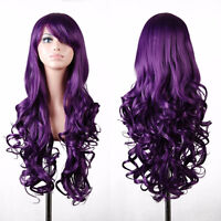 BRAND NEW: 80cm Long Curly Deluxe Purple Cosplay Wig