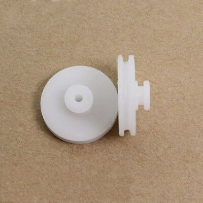 10pcs Plastic Dual Pulley 20.5 7.5mm Aperture Wheel For Model Carrobot Making