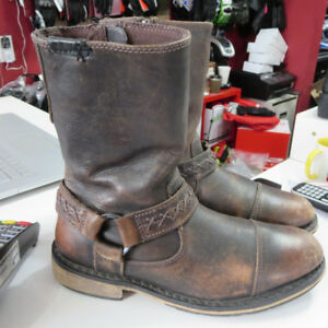 Men's Harley Davidson  Leather Motorcycle Boots Brown $70