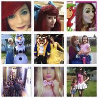 Elsa-Anna-Olaf-Belle-Bête-Ariel-Monster Hight -Princesses