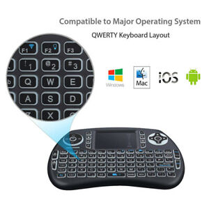 Bluetooth Keyboard, Portable Mini Backlit with Touchpad Mouse