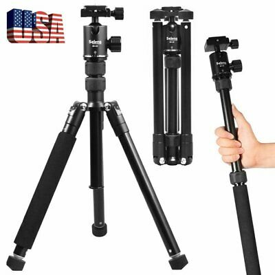 Selens Travel Camera Tripod Monopod Ball Head Universal For Nikon Canon DSLR SLR