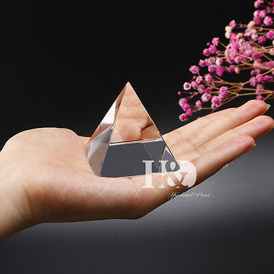 - Small Feng Shui Egypt Egyptian Crystal Clear Pyramid Healing Prizm Amulet 2