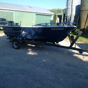 16' Skyliner boat with trailer, motors & more