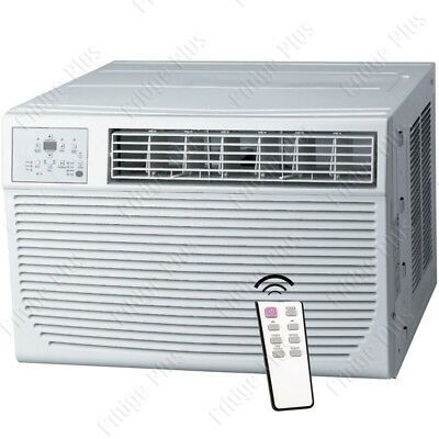 8000 BTU Window AC Unit w/ 3500 BTU Heater, 115V Home Air Conditioner w/ Remote