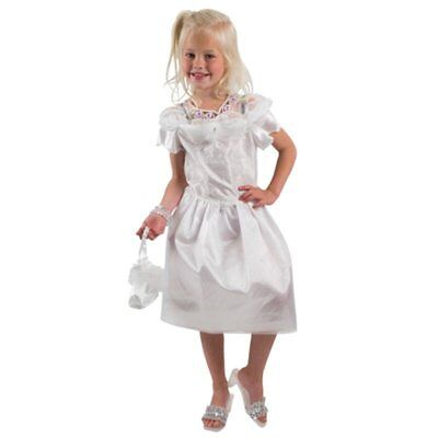 Brautkleid Blumenmädchen Prinzessin weißes Kleid Fasching Karneval Kostüm