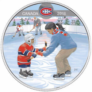 2018 $10 Pure Silver Coloured Coin - Montreal Canadiens
