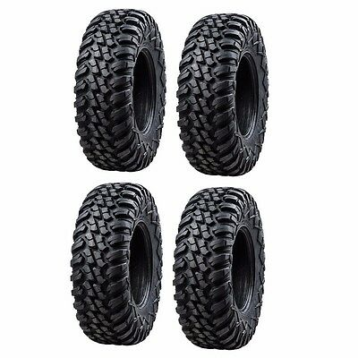 Tusk Terrabite Radial ATV UTV Tire Kit Set Of Four 4 Tires 27x9-12 And 27x11-12