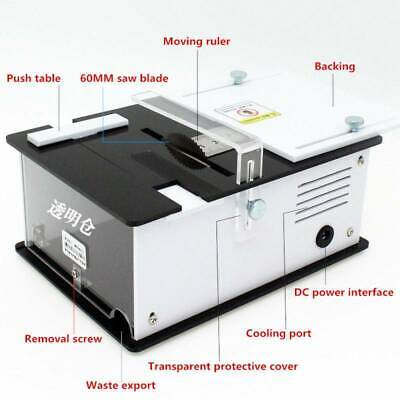 8000rpm Mini Precision Table Saw Handmade Woodworking Bench Diy Bench Cutter