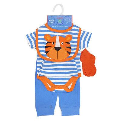 Baby-junge Ideen (Baby Set, 5 teilig, Geschenkidee, Neu, Lily & Jack, Tiger)
