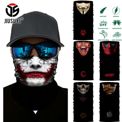 3D Vampire Clown Joker Skull Neck Scarf Face Mask Balaclava Headband Bandana Ski](Joker Ski Mask)
